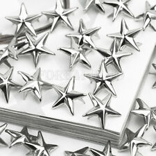 100pcs Silver Tone Star Spots Studs Rivets Spikes Gothic Bag Belt Leathercraft