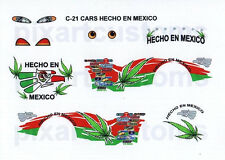 C-21 PIXAR CARS CUSTOM FOR DALE EASY IDLE TOW CAP HECHO EN MEXICO DECAL SET