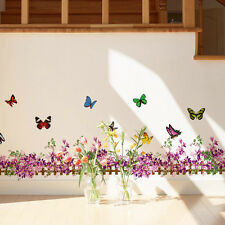 New Wall Sticker Flowers Butterfly Decals Vinyl Art Mural Removable Home Decor