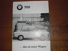 Prospekt Sales Brochure BMW 700 Kleinwagen Smallcar Microcar Coupé   автомобиль