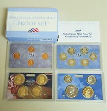 2009 UNITED STATES PROOF 18 COIN SET ORIGINAL GOVERNMENT BOX AND COA