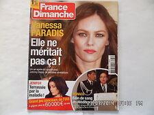 FRANCE DIMANCHE N°3487 28 JUIN 2013 VANESSA PARADIS JENIFER MONACO F55