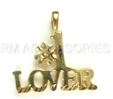 #1 Lover Charm / Pendant Gold Plated Jewelry Gifts with a Lifetime Guarantee!