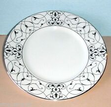 """Vera Wang Wedgwood IMPERIAL SCROLL Accent Plate 9"""" Platinum Trim New"""