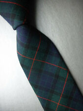 NWT! BROOKS BROTHERS Green Blue Plaid Wool Neck Tie  MSRP $79.50 ~ NEW