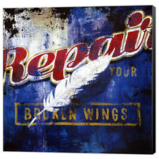 Repair Your Broken Wings Rodney White Retro Poster Fine Art Print Paper 24x24