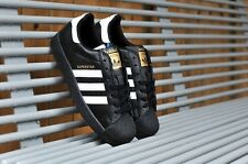 Adidas Black superstar with golden logo for men & women with box