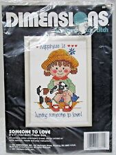 "Dimensions 6615    ""Someone To  Love""   Stamped Cross Stitch_1991"