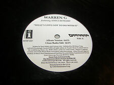 """Warren G What's Love Got To Do With It 12"""" Single NM INT8P-6037 1996 PROMO"""