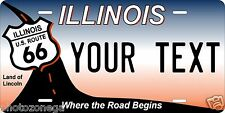 Illinois Rt 66 License Plate Personalized Custom Car Auto Bike Moped Motorcycle