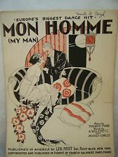 Sheet Music Mon Homme  My Man Europe's biggest dance hit Yvain Metz Charles 1920