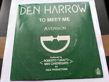 SINGLE DEN HARROW - TO MEET ME - HISPAVOX SPAIN 1983 VG+