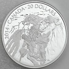 Canada 2014 $20 Nanaboozhoo and the Thunderbird's Nest 1 oz. Pure Silver Proof