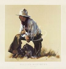 PARTNERSHIP FINE ART PRINT WILLIAM MATTHEWS cowboy farm dog western poster 28x29