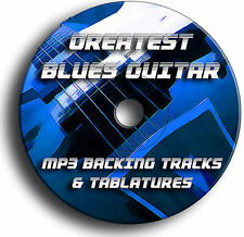 140x BLUES GITARRE MP3 PLAYBACK JAM TITEL & ABZEICHEN TABULATUREN SONG BUCH CD