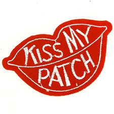 RED KISS MY PATCH LIPS  Sew Iron  on Patch Bags Jeans Clothes Gay