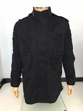 Maharishi Men's Coat, Large, L, Black, Trench, Military, Jacket Vgc