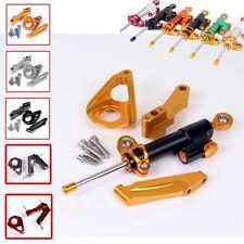 CNC Steering Damper Set for SUZUKI GSXR600/750 2004-2005 w/ bracket kits