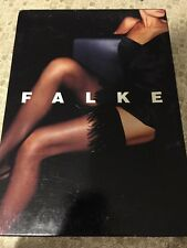 Falke Feather Thigh Highs Stay-ups Hold-ups Black Small 41622 $325 Rare