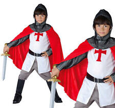 Childrens Crusader Knight Boys Fancy Dress St George Book Week Costume M