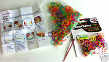 Loom Bands Bracelet Making Crafts Set 600 Piece Kit Flexible Bands Clips Hooks