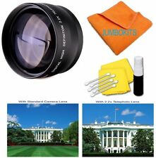 58MM 2.2x HD Telephoto Zoom Lens for Canon Rebel T3 T4 T5 T5I 30D 20D 1000D T4I