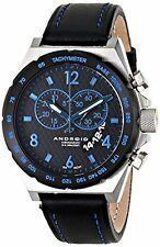 NEW Android AD449BBU Mens Interceptor Chrono Blue Accent Black Band Silver Watch