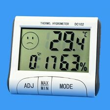 Digital LCD Thermometer Hygrometer Temperature Humidity Meter Indoor Outdoor Min