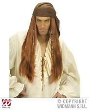 Pirates Of The Caribbean Wig With Faux Suede Bandana Pirate Fancy Dress