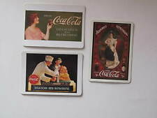 COCA COLA COKE  GIRL MAGNETIC POST CARDS - SET OF 3 - NEW