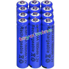 12x AAA battery batteries Bulk Nickel Hydride Rechargeable NI-MH 1800mAh 1.2V Bl