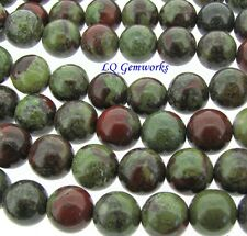 "16"" Strand DRAGON BLOOD JASPER 10mm Round Beads"