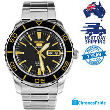 NEW SEIKO 5 SPORTS AUTOMATIC SNZH57 SNZH57J Black Gold MADE IN JAPAN Mens Watch