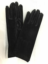 "9.5 "" Velvet Wrist Length Gloves  Black"
