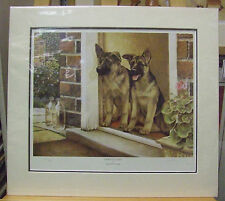 Home Guard by Nigel Hemming Signed Limited Edition German Shepherd Dog Print