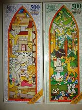 2 Precious Moments 500 piece jigsaw puzzle 1998 Blessed Meek & Merciful COMPLETE