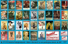 Peddinghaus 1/87 (HO) German Wartime Wall Posters WWII (36 posters) EP1575