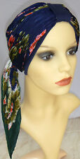 HEAD WEAR FOR HAIR LOSS, CHEMO CAP AND SCARF. 3 LOOKS IN 1 COMBINATION FOR CHEMO