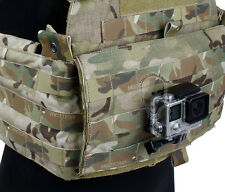 TMC Black Alloy Outdoor Tactical Fishing Vest Molle Mount GoPro 2 3 3+ 4 session