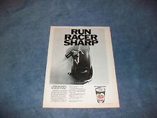 "1969 STP Oil Treatment VW Bug Vintage Ad ""Run Racer Sharp"""