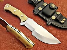 UNION KNIVES CUSTOM MADE 1095 HIGH CARBON STEEL TRACKER (CAMEL BONE HANDLE)