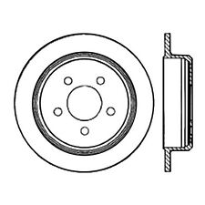 Disc Brake Rotor-High Performance Slotted Centric fits 93-98 Jeep Grand Cherokee