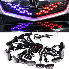 1 Kit LED Car Truck Red Blue Strobe Emergency Warning Light Bars Deck Dash Grill