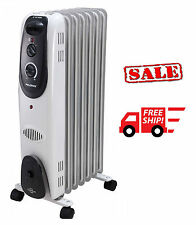 Pelonis Radiator Heater Electric Portable Space Adjustable Thermostat Oil Filled