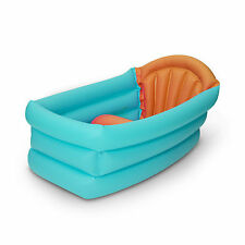 56136 Baby Inflatable Bath Tub with 3 Positions in Aqua from 1+ Year for Travel