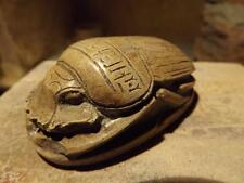 Egyptian art - Museum replica - New Kingdom heart scarab amulet.