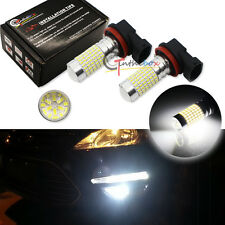 2PCS White Super Bright 144-SMD 1400 Lume H16/H11 LED Fog Light Bulbs for Toyota