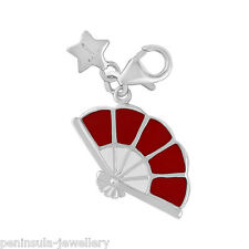 Tingle Fan Sterling Silver Charm with Gift Box and Bag SCH273