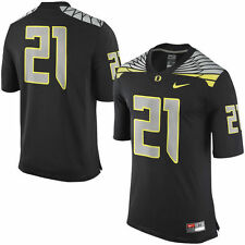 NIKE OREGON DUCKS #21 NCAA MENS MACH SPEED LIMITED EDITION SEWN JERSEY MEDIUM
