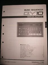 Yamaha Music Sequencer QY10 Service Shop Manual Schematics Parts List 1991